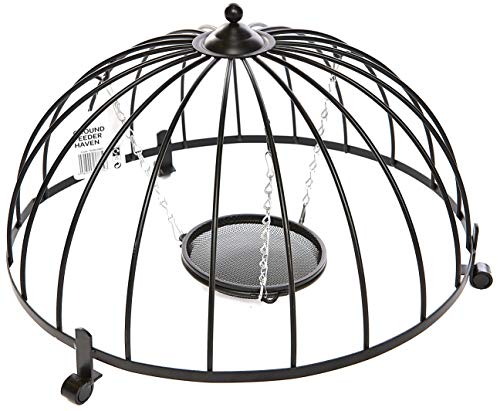 Ruddings Wood Wild Garden Bird Heavy Duty Ground Haven Cage Feeder and Hanging Metal Mesh Feeder