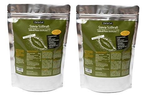ZeroCal 1:1 (Stevia - Eritritolo) - 2x1kg - potere dolcificante uguale allo zucchero tradizionale