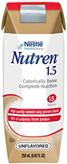 Nutren 1.5 High Calorie, Unflavored Liquid Nutrition, 8.45 Ounce (Pack of 24)