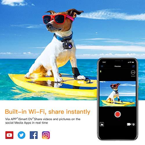 APEMAN Action Cam 4K WiFi Camera 16MP Ultra Full HD Unterwasser Kamera Helmkamera Wasserdicht mit 2.4G Fernbedienung 2 verbesserten Akkus und Montage Zubehör Kit - 4