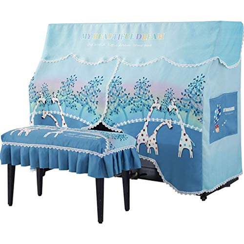 Fantastic Prices! Piano Cover Piano Dust Cover Cloth Blue Country Style Piano Cloth Cover Towel (Col...