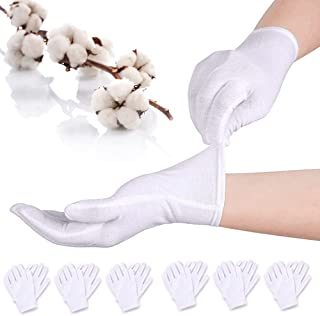 BETOY Guanti di Cotone Bianco White Cotton Gloves Elastico guanto da lavoro per monete gioielli argento ispezione guanti 1...