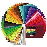 Arteza Hojas de fieltro para manualidades | 50 fieltros rígidos para costura y artesanía | Colores surtidos | Tamaño A4 (21 x 30 Centimetros) | Grosor 1,5 mm