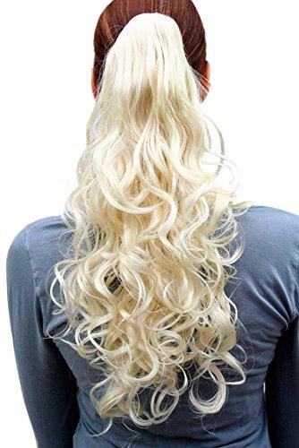 Postiche/tresse, blond platine, bouclé C-128-613