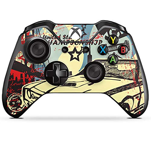 DeinDesign Skin kompatibel mit Microsoft Xbox One Controller Folie Sticker Lowrider Street Art Auto