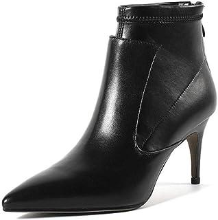 con 60% de descuento Shirloy botas De De De Mujer Botines De Tacón Alto botas Botines Zapatos De Mujer Cuero sealado Cremallera Trasera blancoo tacón Alto Estilete Glamour  la mejor selección de