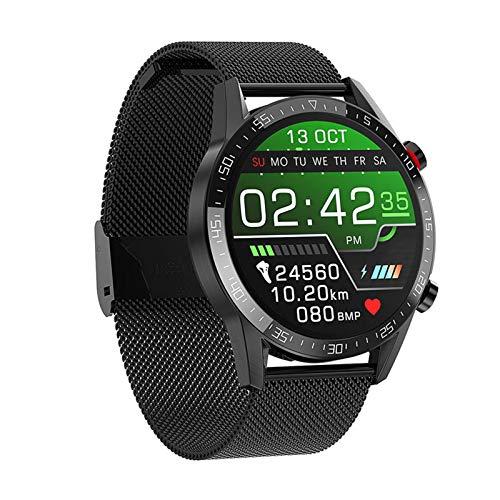 MMFFYZ Reloj Inteligente Rastreador De Ejercicios Reloj Inteligente Monitoreo del Ritmo Cardíaco Reloj Inteligente A Prueba De Agua Android iOS Llamada Bluetooth Pulsera Inteligente(Color:A)