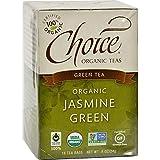 CHOICE ORGANIC TEAS TEA,OG2,JASMINE GREEN, 16 BAG
