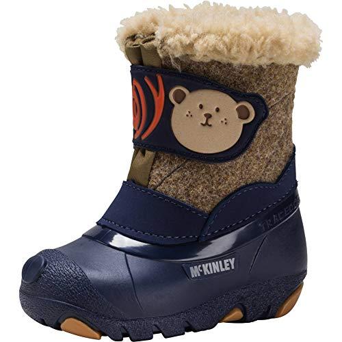 McKINLEY Unisex-Kinder Teddy Trekking- & Wanderstiefel, Blau (Blue Dark/Brown 901), 28 EU