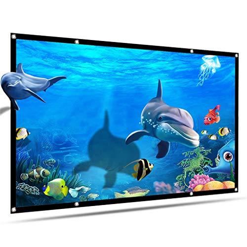 DDLMM Pantalla De Proyector HD De 120 Pulgadas 16: 9 Pantalla Portátil De Proyector HD Pantalla De Pared Blanca Plegable Plegable con Bolsa De Transporte para El Cine En Casa (Size : 100 Inch)