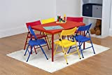 Cosco 7 Piece Children's Juvenile Set with Pinch Free Folding Chairs & Screw in Leg Table