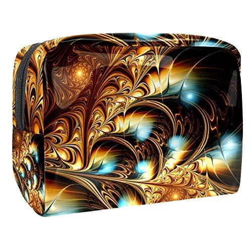 Golden Light Background Travel Toiletry Bag, Premium Waterproof Travel Bag with Upgraded Zipper