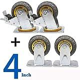 Ruedas para muebles rueda ruedas muebles pequeños ruedas giratorias ruedas carros Ruedas giratorias freno giro 360 grados Goma silenciosa sólida 4 pulgadas 5 pulgadas 6 pulgadas 8 pulgadas con freno