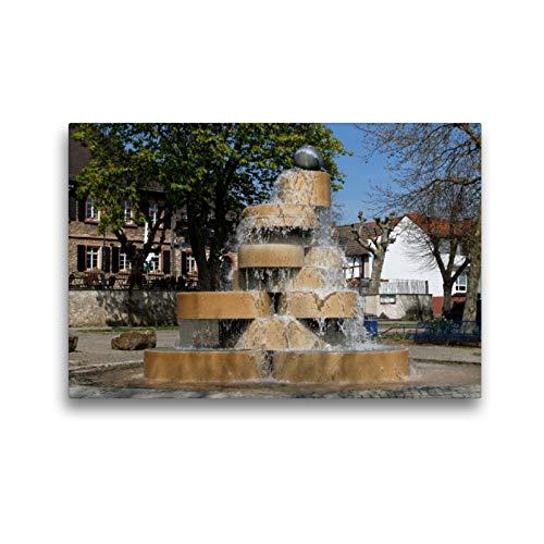 Premium Textil-Leinwand 45 x 30 cm Quer-Format Berliner Brunnen   Wandbild, HD-Bild auf Keilrahmen, Fertigbild auf hochwertigem Vlies, Leinwanddruck von Petrus Bodenstaff