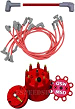 MSD 35659K1 Cap/Rotor/8.5 Red Wire Set - Small Block Chevy with MSD Distributor