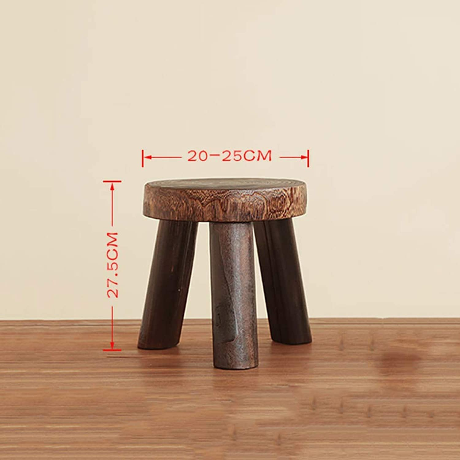JZX Footstool, shoes Bench, Sofa Bench, shoes Bench, Solid Wood Home Triangle shoes Round Multi-Function Stool