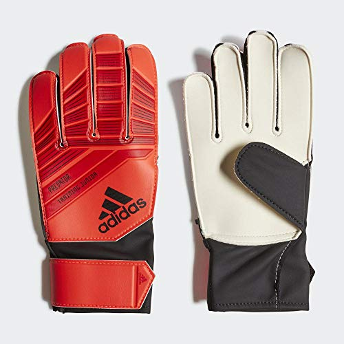 adidas Kinder PRED J Torkeeper-Handschuhe (ohne Fingersave), Active Red/Solar Red/Black, 7