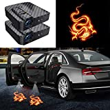 2Pcs Upgraded Wireless Car Door Logo Light,Ghost Shadow Courtesy Projector Welcome Led Lamps for All Car Models (dragon)