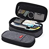 EASTHILL Big Capacity Pencil Pen Case Office College School Large Storage High Capacity Bag Pouch Holder Box Organizer Blue New Arrival(Black)