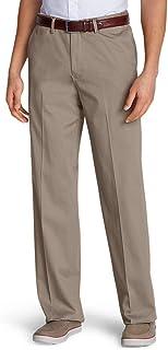 Men's Dress Performance Comfort-Waist Flat-Front Khakis -...