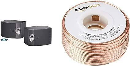 BOSE 301-V Stereo Loudspeakers (Pair) - Black & AmazonBasics SW100ft 16-Gauge Speaker Wire - 100 Feet