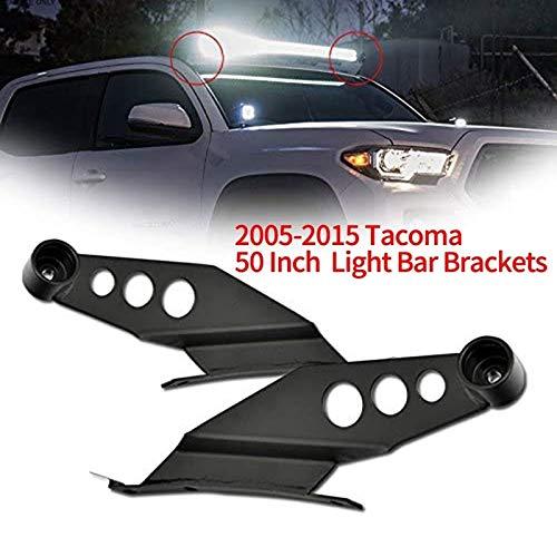 Soporte de Faro Soporte de Montaje de la Barra de la Barra de luz Recta del Techo de 50 Pulgadas Ajuste para Toyota Tacoma 2005-2015 (Color : Black)