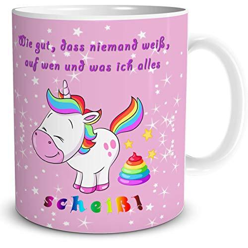 TRIOSK Tasse Einhorn mit Spruch lustig Wie Gut Geschenk Spaßtasse für Frauen Kinder Mädchen Einhornliebhaber Unicorn Regenbogen Rosa Bunt