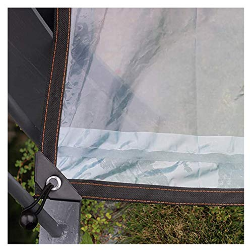 SHIJINHAO Transparent Tarpaulin Hard-wearing Waterproof Plastic With Metal Eyelets For Camping Ground Plants Roofing Rainproof Cover ,40 Sizes (Color : Clear, Size : 3X6M)