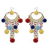 Orecchini pendenti da donna Pendientes gioielli nappa bohémien goccia colorati estate spiaggia femminile orecchini lunghi 2020 e NA, colore: Colorato, cod. KPA7212