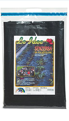 Maniver Senzerba - Tela per pacciamatura in polietilene 1.5 x 10 mt