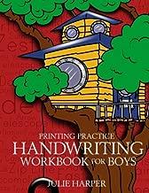 Printing Practice Handwriting Workbook for Boys