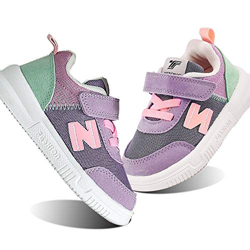 Baby Sneaker Shoes for Girls Boy Kids Breathable Mesh Light Weight Athletic Running Walking Casual Shoes(5 M US Toddler,Pink)