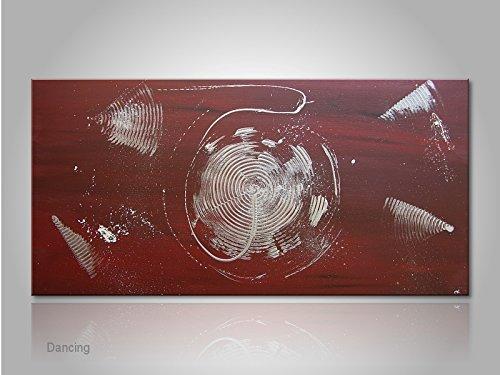 Acrylbild handgemalt von MartinK. Braun/Rot/Silber auf Leinwand: