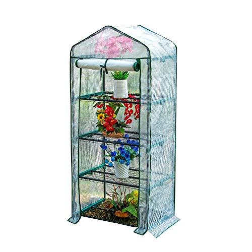 genral Invernadero blanco de 4 niveles, con estante para flores de interior y exterior, para vegetales, plantas de semillero de cultivo, 69 x 49 x 160 cm