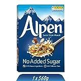 Alpen No Added Sugar Müsli (1 x 560 g) – gesundes Frühstück im Schweizer Stil – Leckere Cerealien mit vielen Ballaststoffen und ohne Zuckerzusatz