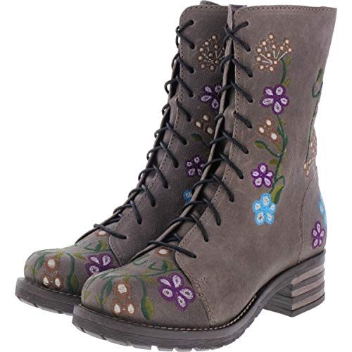 Brako / Modell: Military Oxide/Antracita Flower Leder/Stiefel/Art: 8403 / Damen Stiefel Größe 43 EU