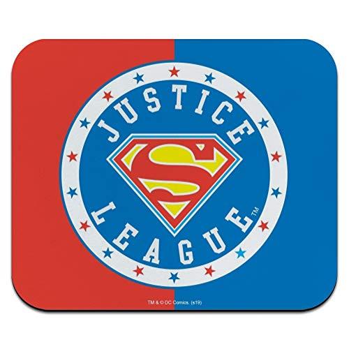 Justice League Superman Athletic Logo Low Profile Thin Mouse Pad Mousepad