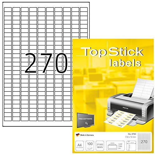 Etiquetas Adhesivas A4 10 Marca topstick