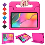 BMOUO Kids Case for Samsung Galaxy Tab A 10.1 (2019) SM-T510/T515, Shockproof Light Weight Protective Convertible Handle Stand Kids Proof Case for Galaxy Tab A 10.1 Inch 2019 Release - Rose
