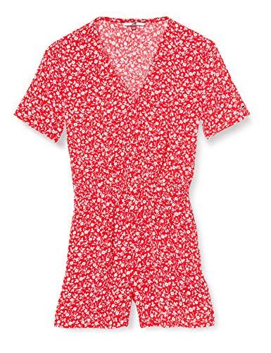 Tommy Jeans Tjw Playsuit Vestido, Rojo (Floral Print/Deep Crimson 0k3), 42 (Talla del Fabricante: X-Large)...
