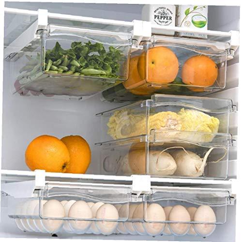 Colgando Refrigerador Estantes Gaveta De Almacenamiento Caja De Almacenamiento De La Fruta del Alimento De Nevera Estante del Refrigerador Soporte De Hogares De Contenedores, 3 Unidades De Huevo,