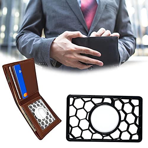 ZURITI Locator Monedero Estuche Accesorios Titular Tarjeta de crédito Tamaño, Cubierta Protectora de Permiso de Trabajo para Dispositivo Anti-pérdida, para Billetera, Embrague o Pulsera Black