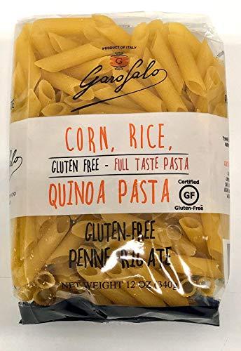 Garofalo, Pasta Corn Rice Quinoa Penne Rigate, 12 Ounce