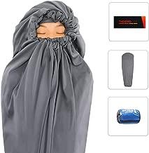Litume Thermolite All Season Sleeping Bag Liner Add Up to 22F, Mummy Sleeping Sack Backpacking, Camping, Traveling, Lightweight Sleep Sack with Drawstring Hood