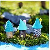 3pcs Resina Hada del Jardín La Decoración del Arte Miniatura Micro GNOME Terrario Mediterránea Casa Castillo Regalo De Setas