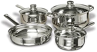 Concord Cookware 7-Piece Stainless Steel Cookware Set, includes Pots and Pans