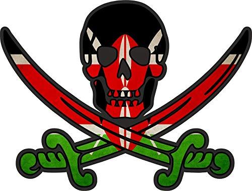 Akachafactory sticker piraat piraten Jack Rackham Calico vlag vlag eak Kenia
