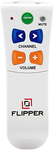 Flipper Big Button Remote for Seniors - Universal Simple to Read, Proprietary Favorite Channels, Supports IR TVs, Cab...