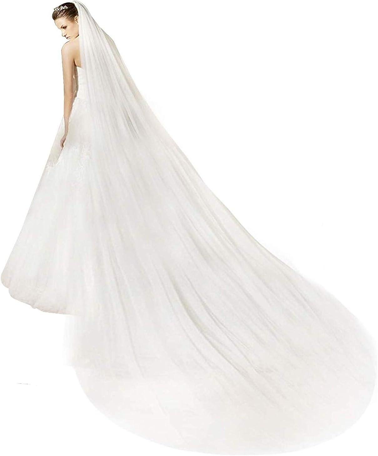 Shop Ginger Wedding Handmade USA Cathedral Royal Double Layer 2T Bridal Veil Cut Edge