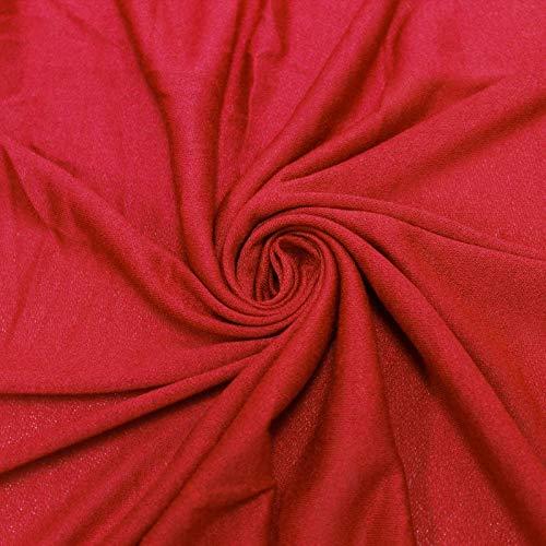 Red 100% Rayon Viscose Crepe Fabric